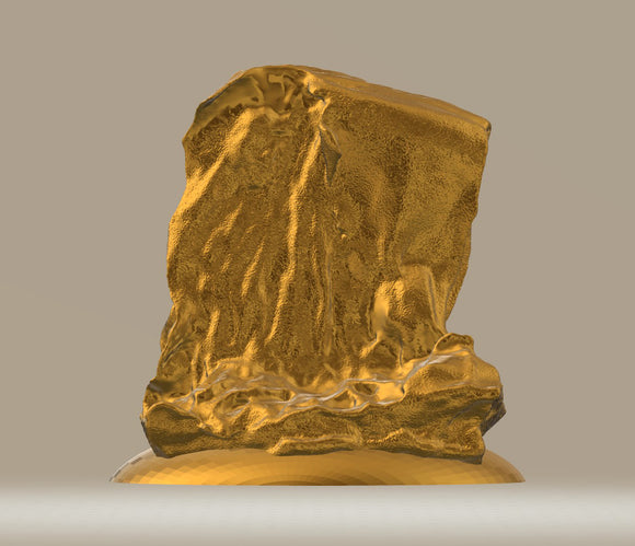 Modern Sculpture Nature 20 Gold