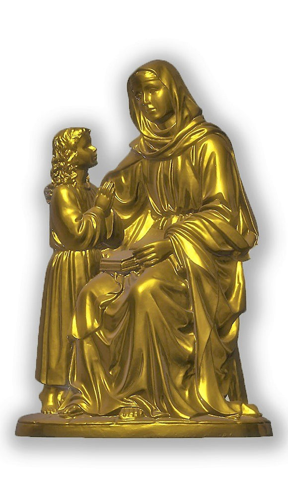Saint Anne with Child, Gold