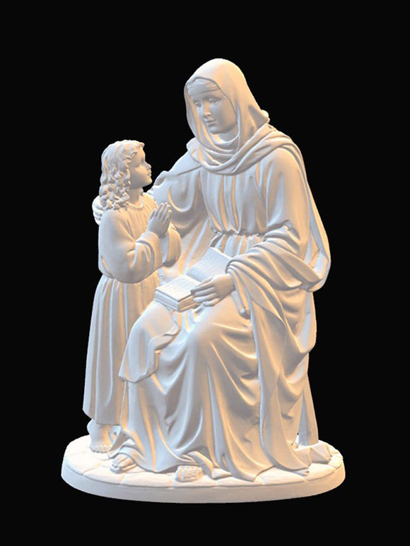 Saint Anne with Child, Marble