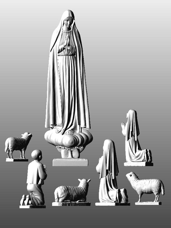 Lady of Fatima Pilgrim w. Shepherds set