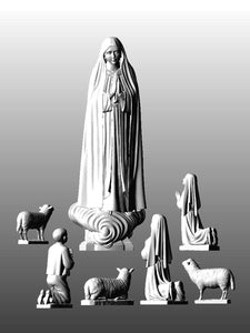 Lady of Fatima Capelinha w. Shepherds set