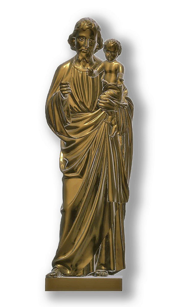 Saint Joseph with Baby Jesus 03, Bronze