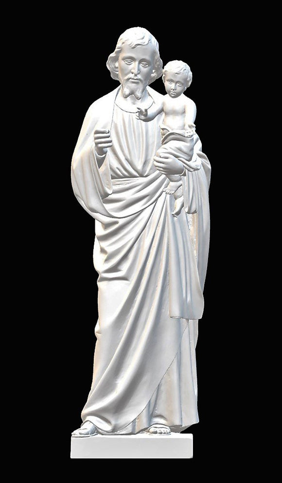 Saint Joseph with Baby Jesus 03, Marble