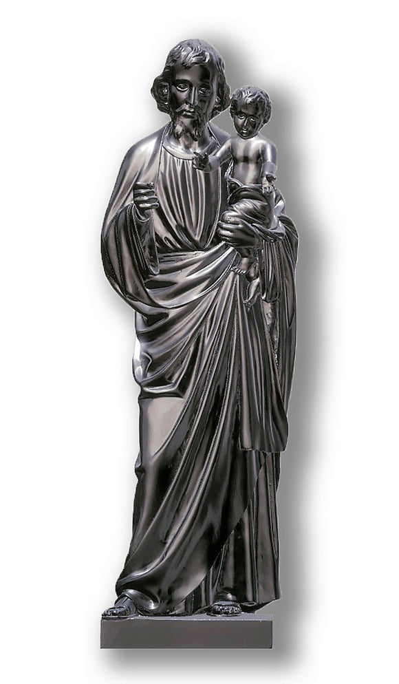 Saint Joseph with Baby Jesus 03, Silver