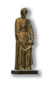 Saint Joseph with Child Jesus, Bronze