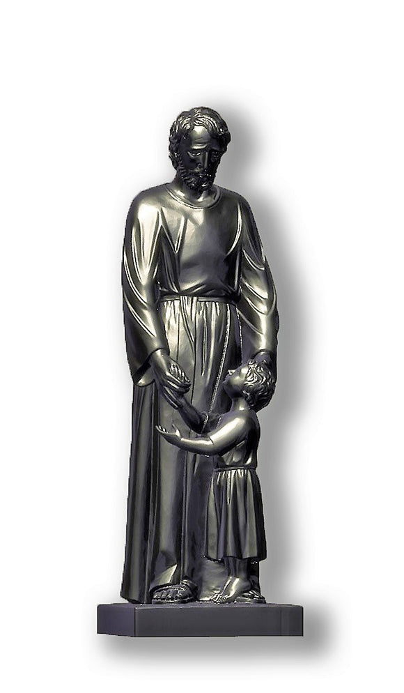 Saint Joseph with Child Jesus, Silver