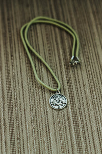 V I R G O: Astrology Charm Choker // in light green