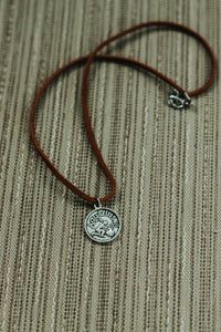 AQUARIUS : Astrology Charm Choker // in Brown