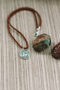ARIES : Astrology Charm Choker // in Brown