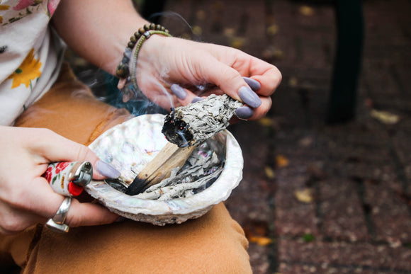 Abalone Shell from Indonesia // Smudge bowl