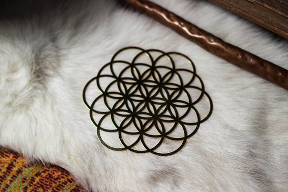 Seed of Life 18k Gold Grid - Small