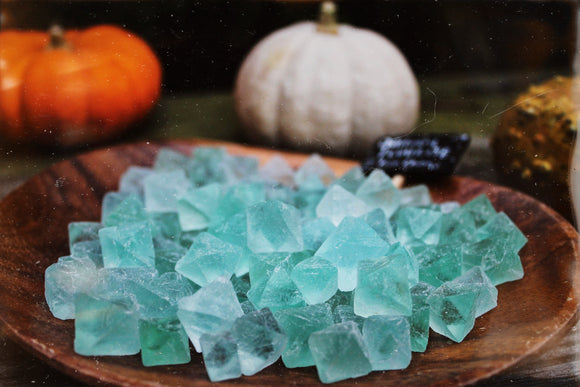 Fluorite Octahedron bundle of 8