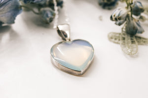 OPALITE // Heart Pendant // sterling silver necklace