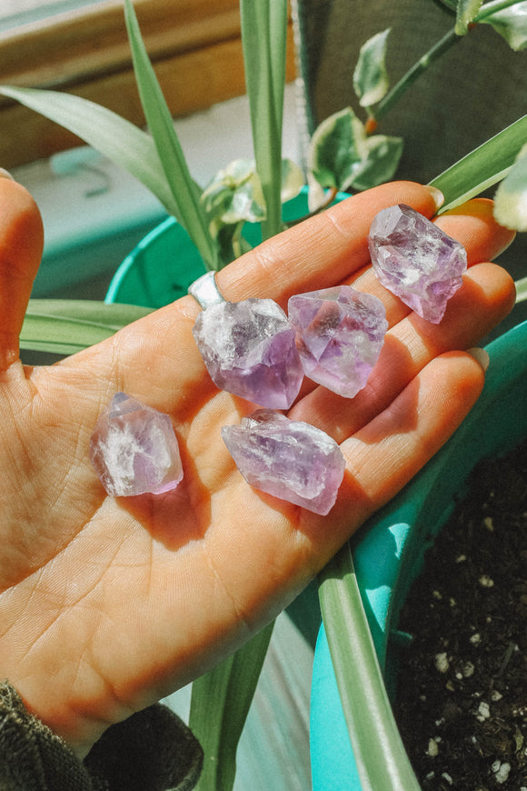 Small Amethyst points from Brazil