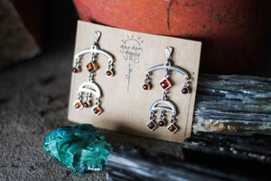 Amber tribal dancer Earrings