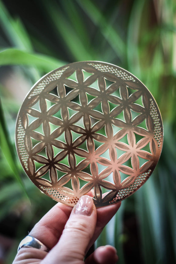 Flower of Life 18k GOLD Sacred Geometry Grid
