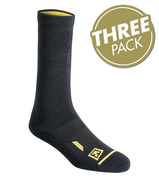"STATIONWS- COTTON 6"" DUTY SOCK 3-PACK"