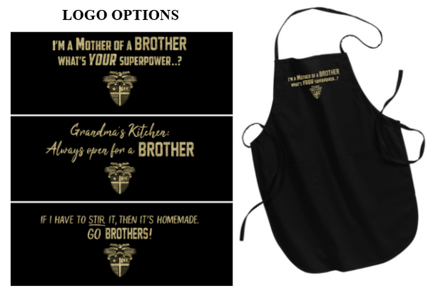 CBA20Holiday- BROTHERS Full Length Apron, choice of logo