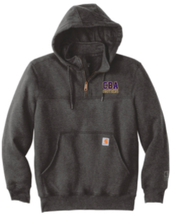 CBA20Holiday- Carhartt ® Rain Defender ® Paxton Heavyweight Hooded Zip Mock Sweatshirt