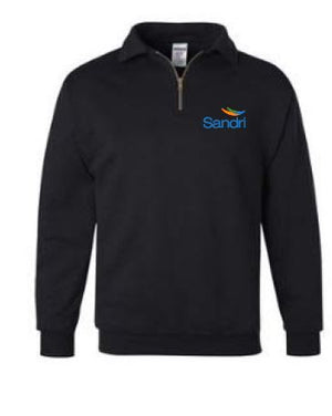 SAND- Uniform 1/4 Zip Sweatshirt