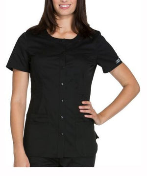 ONY- Ladies Button Front Scrub Top