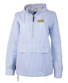 AHN- Preppy Bar Harbor Seersucker Pullover