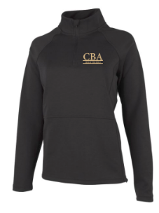 CBA- Ladies Seaport Peplum Wrap back 1/4 zip