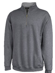 ATTIC20- Pennant 1/4 zip sweatshirts, Charcoal