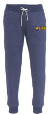 AHN- Navy Heathered Jogger Sweatpant