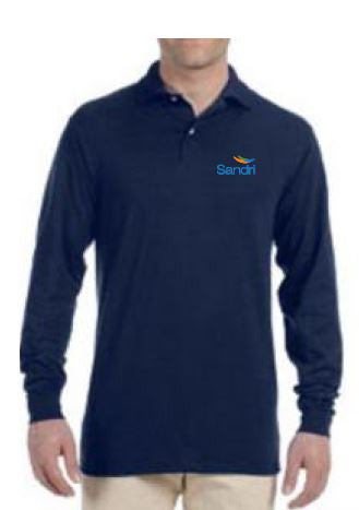 SAND- Uniform Long Sleeve Polo