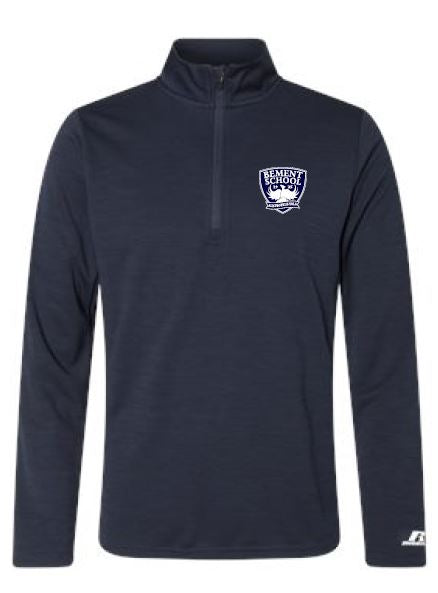 BE- Russell Quarter Zip Performance Pullover