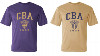 CBASCR- Performance practice Tshirt, Black, White, Purple, Gold