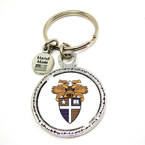CBASoccer- Enameled Crest Key Ring