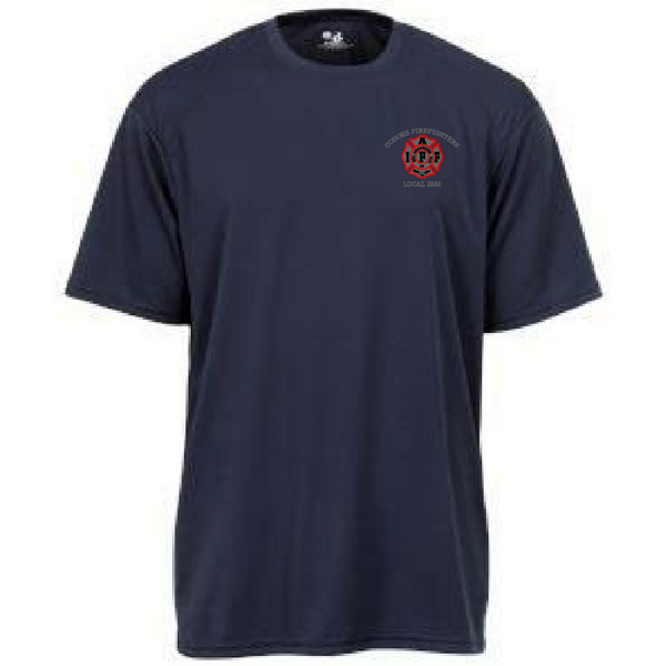 UFOC- Men's Performance Tee with Embroidered Shield