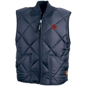 UFOC- Quilted Puffy Vest with Embroidered Shield