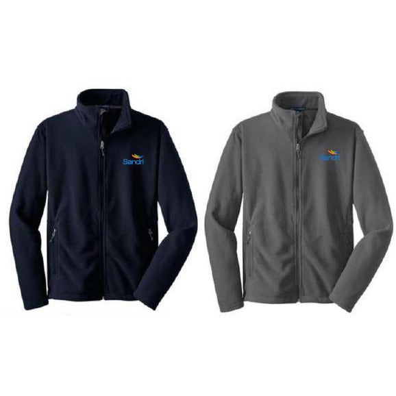 SAND- Full Zip Fleece Pullover
