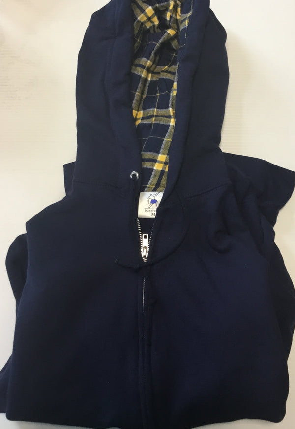 ATTIC20- Boxercraft Full zip Flannel lined hoodies