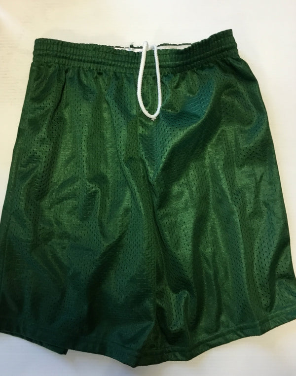 ATTIC20- Mesh Tricot Shorts, Green