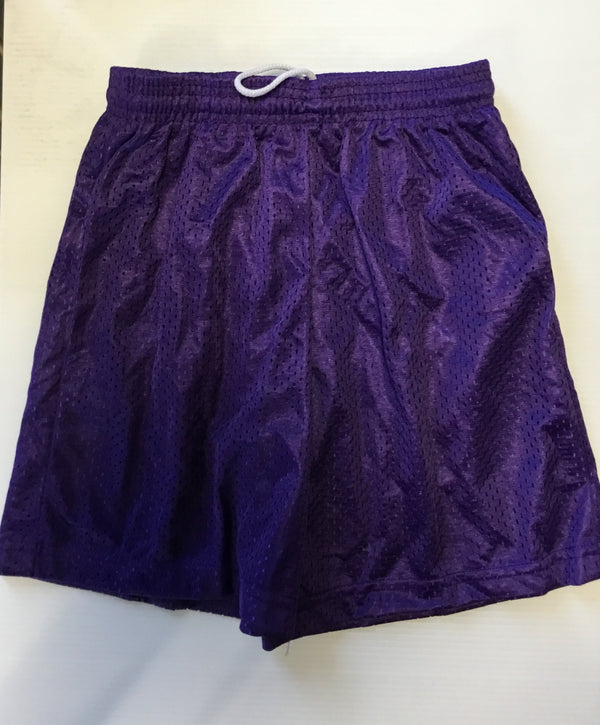 ATTIC20- Mesh Tricot Shorts, purple