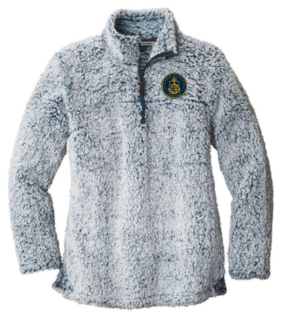 AHN- Ladies Sherpa 1/4 zip pullover