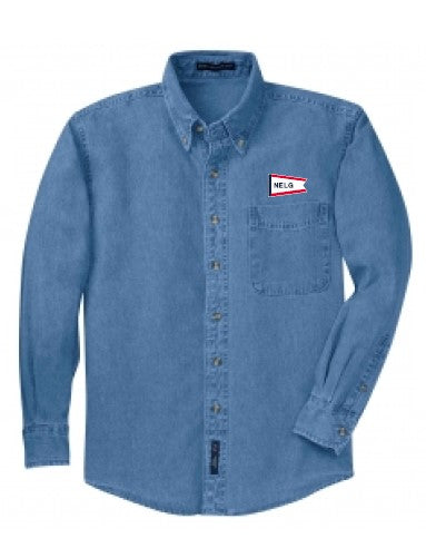 NELG21- Denim Long Sleeve Shirt
