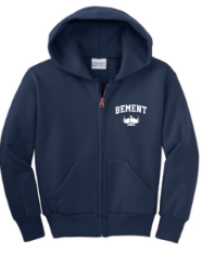 BEMENT- Youth Full Zip Hoodie