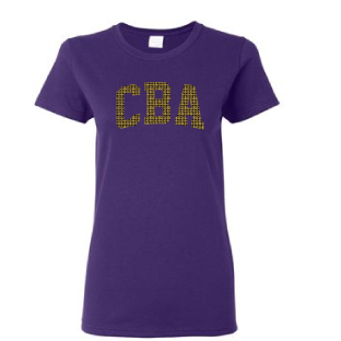 CBAFB- Ladies Rhinestone Tee Shirt