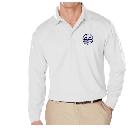 NYSCVBO- Men's Long Sleeve Performance Polo