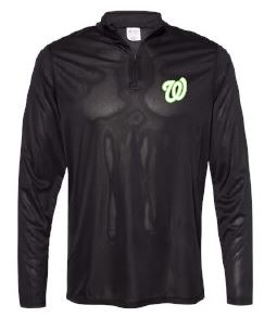 "WLHBaseB- Adult, Ladies, & Youth Lightweight Green ""W"" 1/4 Zip"