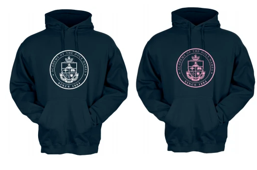 AHN- Motto Hoodie, ink color choice
