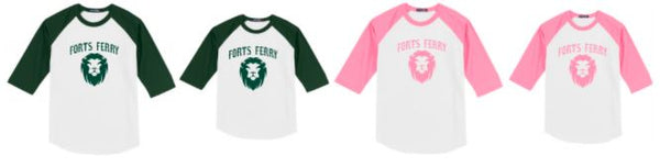 FtFE- Forts Ferry Baseball Style T, Adult & Youth