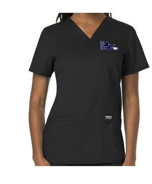 aent- Ladies V-Neck Scrub Top