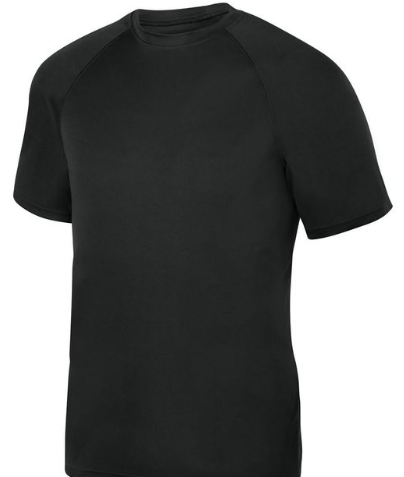 ATTIC20- Augusta Performance Tshirts, Black