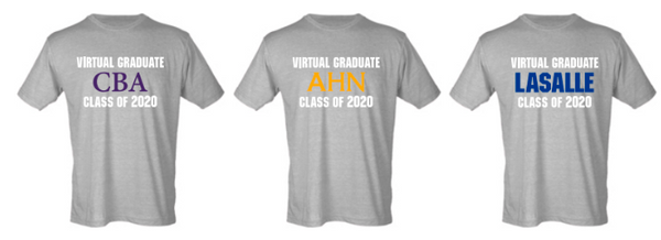 WSQS20-  Virtual Graduate 2020 Tshirt, Choose your School